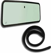 New Windshield Glass And Cowl Weatherstrip Seal Kit For Jeep Wrangler Yj 1987-1995