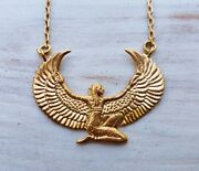 Gold Plated Isis Necklace Goddess Isis Collection Ancient Egyptian Artifact