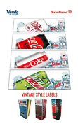 5 Vintage Soda Vending Machine 12 Oz Can Vend Labels Flavor Strips
