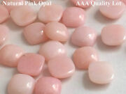 Natural Pink Opal Cushion Cabochon Loose Gemstones Jewelry Making 11mm To 15mm