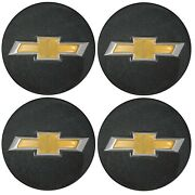 4 Genuine Oem Factory Center Caps Chevy Bow Tie Emblem Logo Gray 2015-2021 Spark