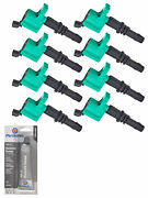 Set Of 8 Premium Ignition Coil+ Tune Up Grease For Ford F150 5.4l Fd508