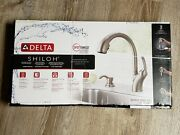 New Delta Shiloh Kitchen Sink Faucet Brushed Stainless Steel Pull Down Head