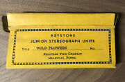 Stereoview 30s Keystone Junior Wild Flowers Hand Tint 23 Stereograph Photo Cards