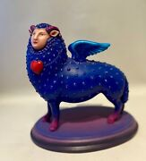Rare Find Bustamantesergio Sheep With Wings S/n Sculpture 65/100