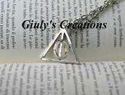 Deathly Hallows Necklace Harry Potter Central Circle Revolving Hogwarts Deathly