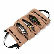 Super Tool Roll Large Wrench Roll Big Tool Roll Up Bag Waxed Canvas Tool Orga...