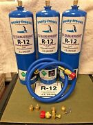 R12 Refrigerant R-12, 3 28 Oz. Cans, With Leak Stop, Proseal Xl4, 1 To 5 Hp