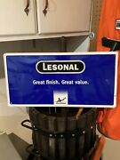 Lesonal Paint Autobody Metal Sign