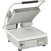 Star Pgt14 Two Sided Panini Sandwich Grill - Aluminum/grooved 14 X 14