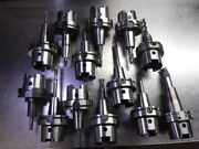 Lot Of 13 Hsk100 Shrink Fit Tool Holders Various Projections Loc1596