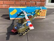 Hong Kong Army Super Copter Helipcopter In Its Original Box - Vintage Original