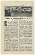 1913 Paper Ad 9 Pg Cyclecar Cycle Car Article Car Auto Automobile Specs Drawings