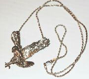 Custom Screaming Eagle Wwii Airborne Sterling Silver Pendant Charm W/ 24 Rope