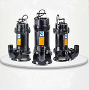 220v 1hp 750w Industrial Sewage Cutter Grinder Cast Iron Submersible Sump Pump