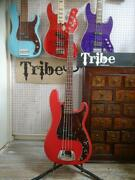 Tribe Candy Apple Red S/n 491 Bass Electric Guitar With Soft Case Limited
