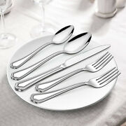 40pcs Silverware Set Stainless Steel Polished Cutlery Service For 8 Flatware