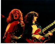 Led Zeppelin Robert Plant Jimmy Page Signed 10x8 Color Photo Todd Mueller Coa