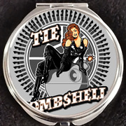 Tie Fighter Bombshell Death Star Wars Force Disney Makeup Compact Double Mirror