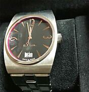 Paul Smith Swiss Collection No.122 Black Dial Menand039s Watch W/ Box Limited Edition