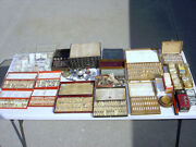 Vintage Lot Of Watch Repair Parts / Tools / Bands - Some Empty Tubes