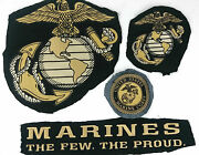 4 Usmc Marine Corps The Few The Proud Embroidered Jacket Patches