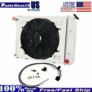 4 Row Radiator+shroud Fan For Chevy Nova Camaro Chevelle 1968-1988 21and039and039 Core