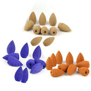 10 X Smoke Tower Cone Bullet Backflow Incense Hollow Cone Home Natural Fragrance