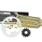 Gold O-ring Drive Chain And Sprocket Kit For 2003 2004 Polaris Predator 500