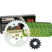 Green O-ring Drive Chain And Sprocket Kit For 2003 2004 Polaris Predator 500