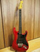 Rare Duncan Seymourized Red Electric Guitar Shipped From Japan
