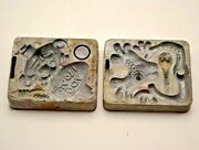 Vintage Mattel 1965 Thingmaker Creeple Peeple Molds Lot Of 2 4482-055a And 051 Guc