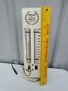 Vintage Philco Dual Tube / Indoor - Outdoor Thermometer