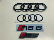 Audi Rs6 Audi Rings Front Rear And Emblems Type Designation Black Genuine New