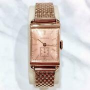 Longines Manual 1943 Vintage Square Wristwatch Shipped From Japan