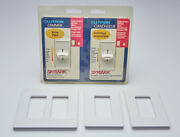 Lutron Controls S-600h-2pk-wh-c Skylark Dimmers And Wallplates