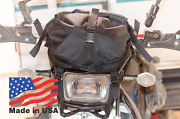 Off Road Bike Gear Bag - No Zipper, Roll Top Fully Adjustable Front Number Plate