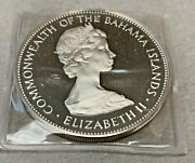 1972 Bahama Islands 5 Silver Proof Coin