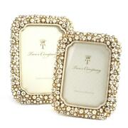 Twoand039s Company 5586 Timeless Set Of 2 Crystal And Pearls Photo Frames