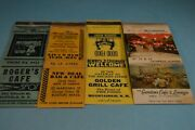 Old Cafes Lot Of 4 Vintage Matchcovers Match Book Covers Food Restaurants