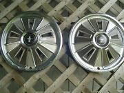 Two 1966 66 Ford Mustang Hubcaps Wheelcovers Center Caps Vintage Classic