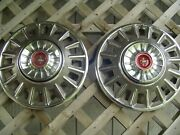 Two Nice 1968 68 Ford Mustang Hubcaps Wheelcovers Center Caps Vintage Classic