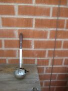 1940s Vintage 12 Length Robinson Stainless Ladle Bolstered Wood Handle Usa