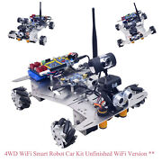 4wd Wifi Smart Robot Car Kit And Camera Mecanum Wheels Unfinished Wifi Version Xs