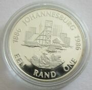 South Africa 1 Rand 1986 100 Years Johannesburg Silver Proof