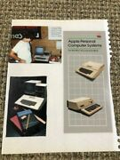 1980 Apple Ii / Iii Vintage Brochure - Apple Personal Computer Systems In Cover