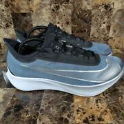Nike Air Zoom Fly 3 Vaporweave Blue/silver Running Shoe At8240-401 Menandrsquos Size 12