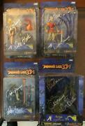 Dragonand039s Lair 3d 2002 Full Action Figure Set - Don Bluth Signed And More - Rare