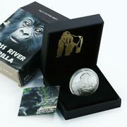 Cameroon 1000 Francs Cross River Gorilla With Child Proof Silver Coin 2011