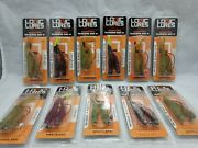 Lot Of 11 Packs Of 2 Logic Lures Scented Tandem Rig 4 Weedless Hooks Pre-rigged